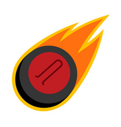 Sport ball fire curling vector