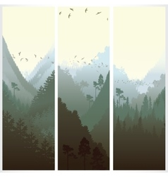 Vertical banners with the forest vector