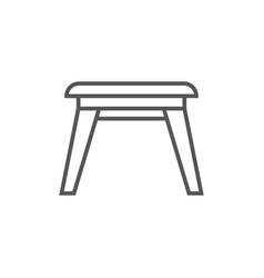 Wooden stool icon in linear style vector