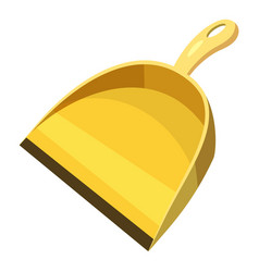 Yellow scoop for cleaning icon cartoon style vector