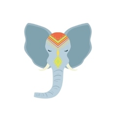Sacred indian elephant head vector
