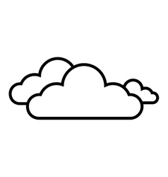 Cloud clear weather vector