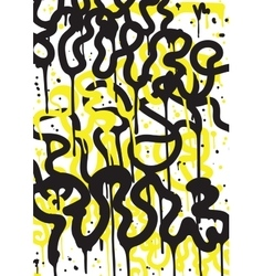 Graffiti art background vector