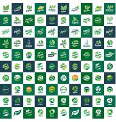Big collection of logos organic vector