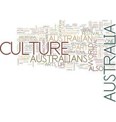 Australia culture text background word cloud vector