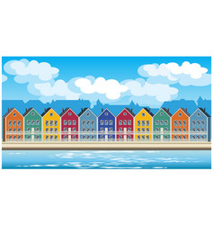 Colorful houses vector