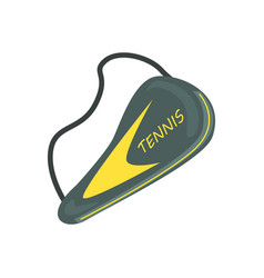 Tennis racket cover sport equipment cartoon vector