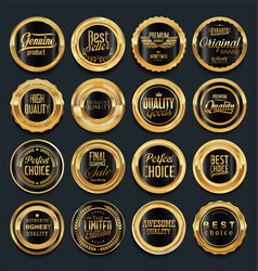 Luxury golden design elements collection 5 vector