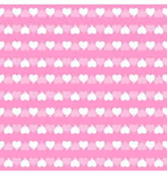 Seamless pattern of hearts vector