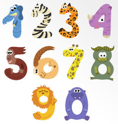 Numbers like african animals vector