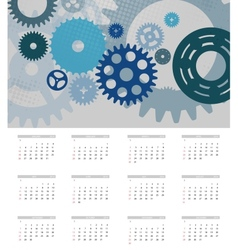 2014 new year calendar vector image vector image