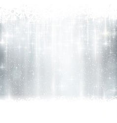 Silver winter Christmas background vector image