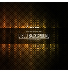 Golden disco lighten background vector image
