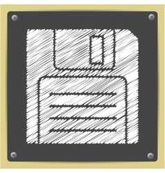 Sign diskette vector