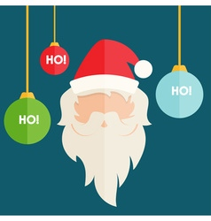 Flat design of santa claus with christmas vector