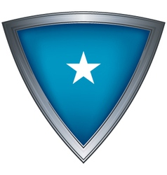 Steel shield with flag galmudug vector