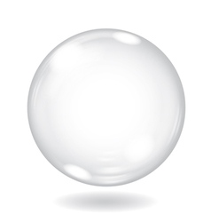 Big white opaque sphere vector