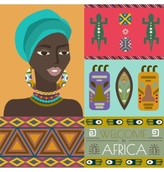 Different african symbols vector
