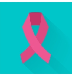Against cancer pink ribbon symbolizing vector