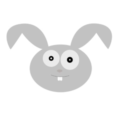 a cute rabbit head vector image vector image