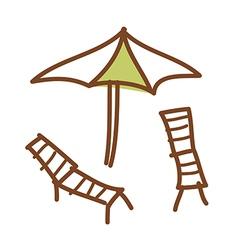 A parasol vector image vector image