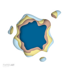 abstract background with multicolor paper cut vector image