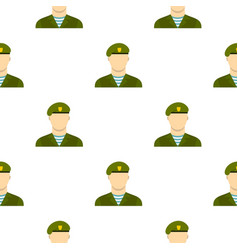 Army soldier pattern flat vector