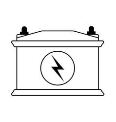 Battery flat draw vector