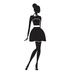 fashion model silhouette of beautiful woman vector image vector image