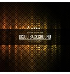 Golden disco lighten background vector image