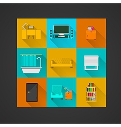 Icons for apartment vector image