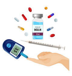 Insulin bottle pills for diabetes and device for vector