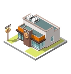Isometric icon infographic building vector