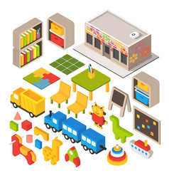 Isometric playground vector