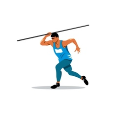 Javelin Thrower sign vector image
