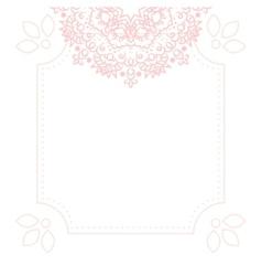 Light pink mandala card template background vector image