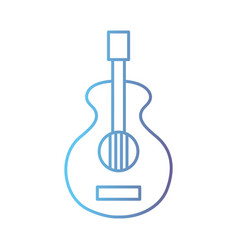 line guitar music instrument to melody harmony vector image vector image