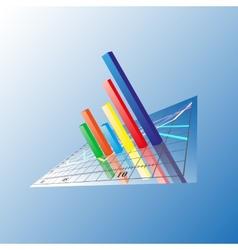 Progressive Bar chart Abstract vector image