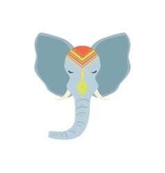 Sacred indian elephant head vector