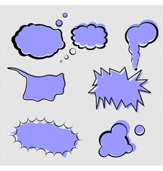 set of speech and thought elements vector image vector image