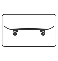 Skateboard icon isolated on white background vector image vector image