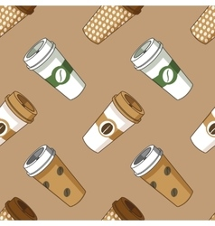 Take away coffee cup pattern vector