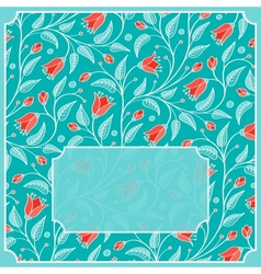 Template for greeting card or invitation vector image vector image