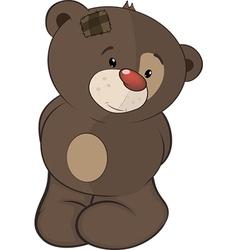 The stuffed toy bear cub cartoon vector