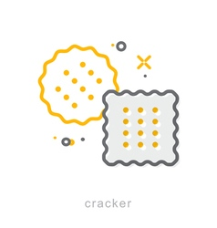 Thin line icons cracker vector