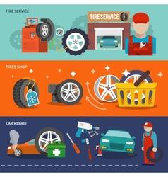 Tire banner set vector