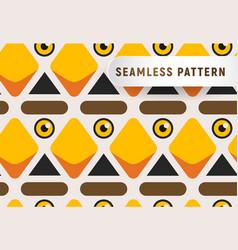 triangular head birds seamless pattern cartoon vector image vector image