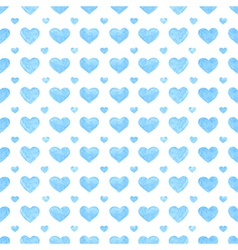 Watercolor romantic seamless pattern with hearts vector image vector image