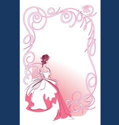 Wedding bride patern vector