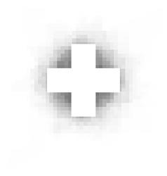 White cross over white vector
